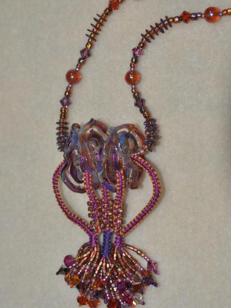 Vanessa's Lampwork Macrame Necklace