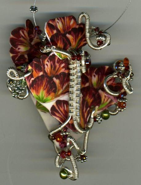 Shrink Plastic Flower Pendant
