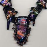 Copper & Black Freeform Peyote Stitch Necklace