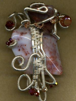 Quartz Wire Wrapped Necklace #6