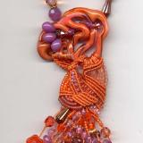 Freeform Micro Macrame Tantrum Necklace 3