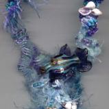 Freeform Macrame Fish Necklace 2