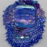 Blue Dicroic Pendant