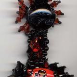Time Warp Black Kitty Macrame Bracelet