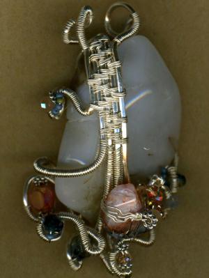Quartz Wire Wrapped Necklace #1
