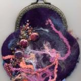 Felted Embellished Purse