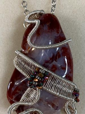 Jasper rock necklace