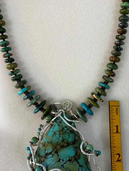 Turquoise Wire worked Necklace