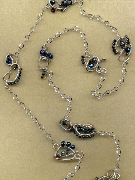 Long Freeform Wire Necklace #1