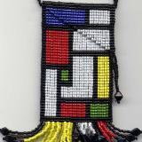 Loomed Mondrian Style Amulet